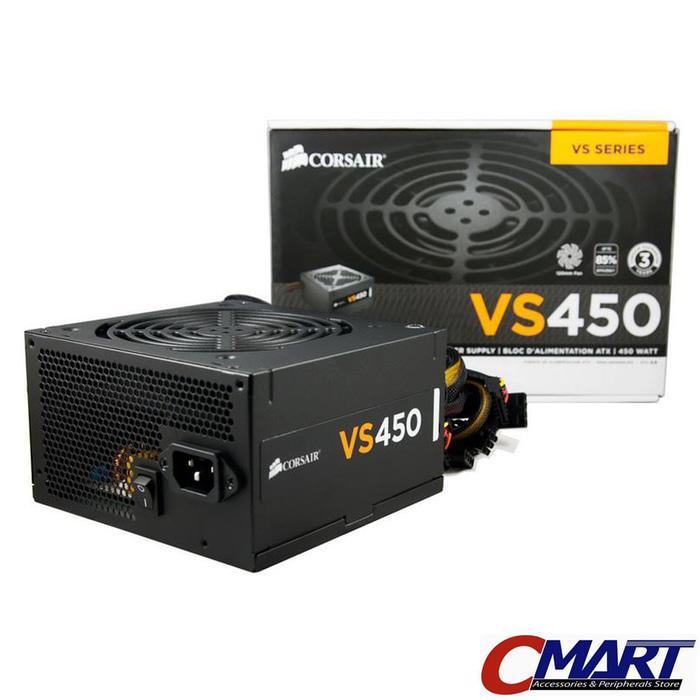 Corsair VS Series VS450 PSU ATX Power Supply True Gaming 450W 450 watt