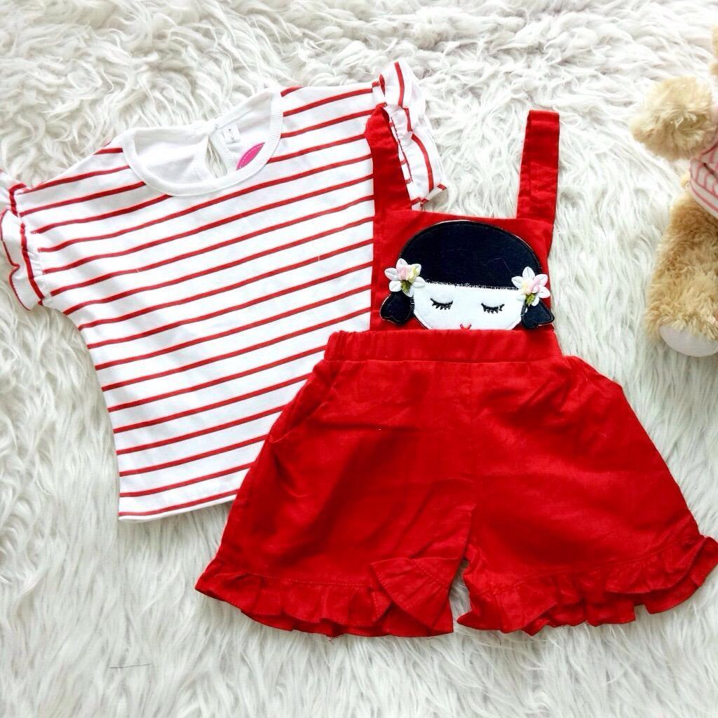 Setelan Baju Rok Bayi Anak Japanese Kid Asli