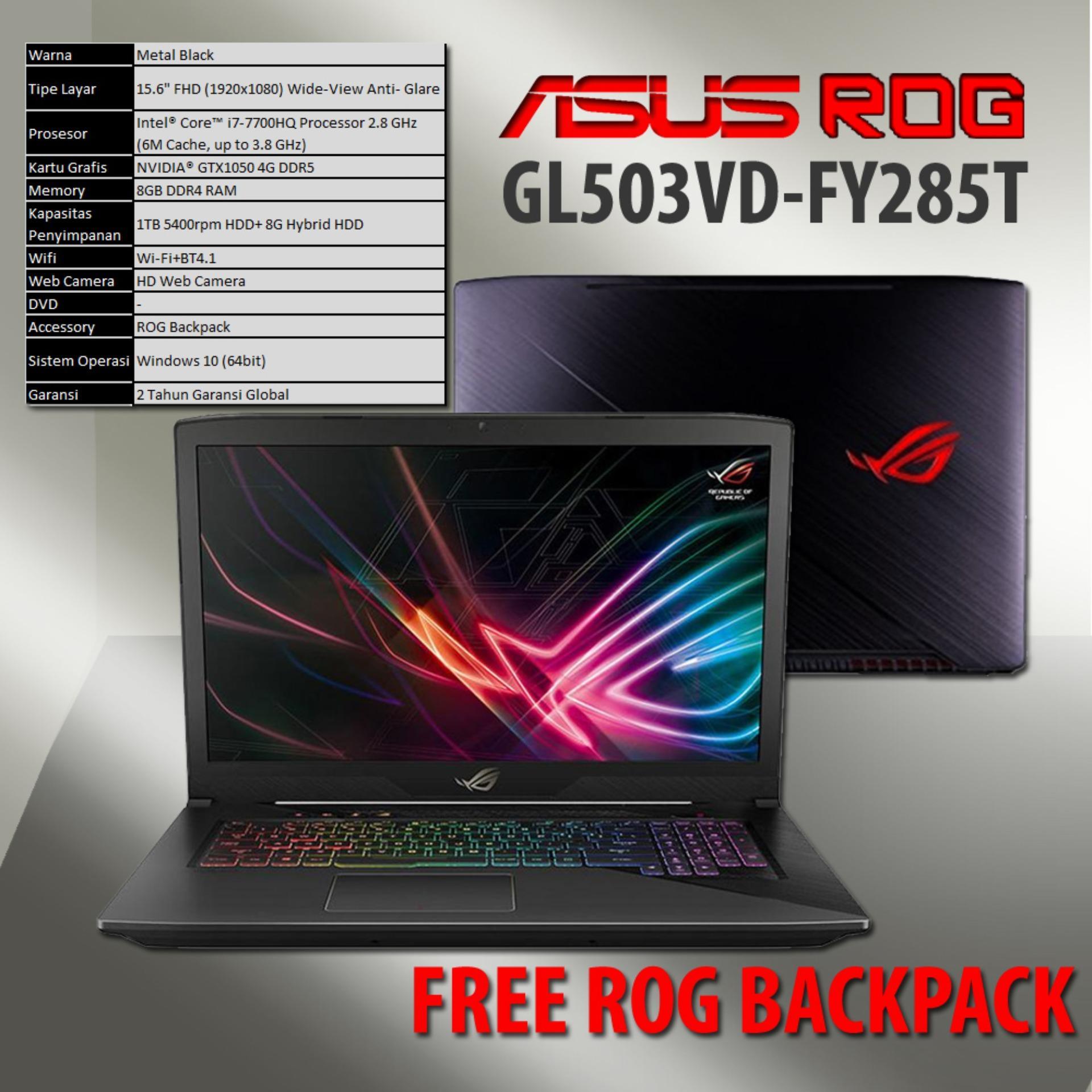 Cek Harga Baru Asus Rog Gl503vd Fy285t Intel Core I7 7700hq Ram 8gb