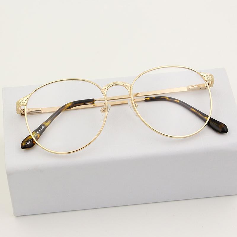 Retro bingkai kacamata wanita Gaya Korea Bundar wajah bulat bingkai besar Bingkai  Kacamata bingkai lengkap tidak 760e3b1b88
