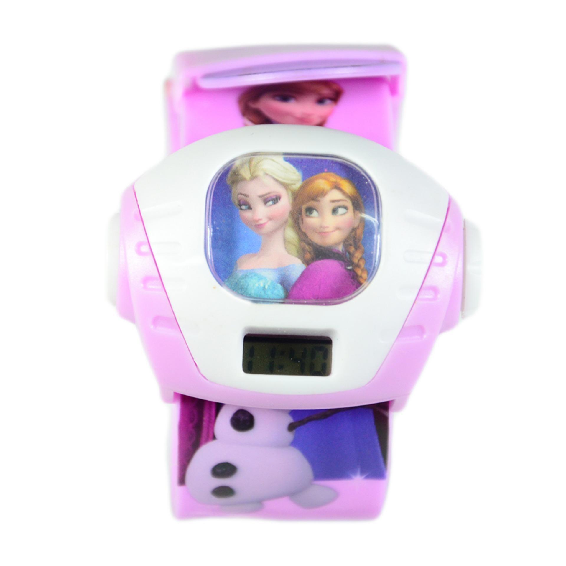 Detail Gambar DnB Collection Jam Tangan Anak Proyektor Kotak Frozen - Pink Muda Terbaru