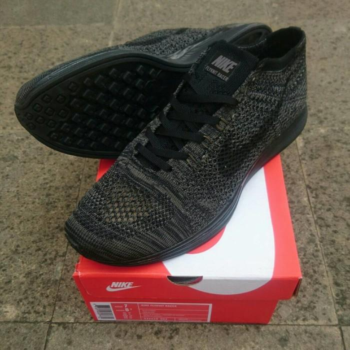 Sepatu Nike Flyknit Racer Midnight Triple Black Premium Quality - Jsnlnd 37c4878c06