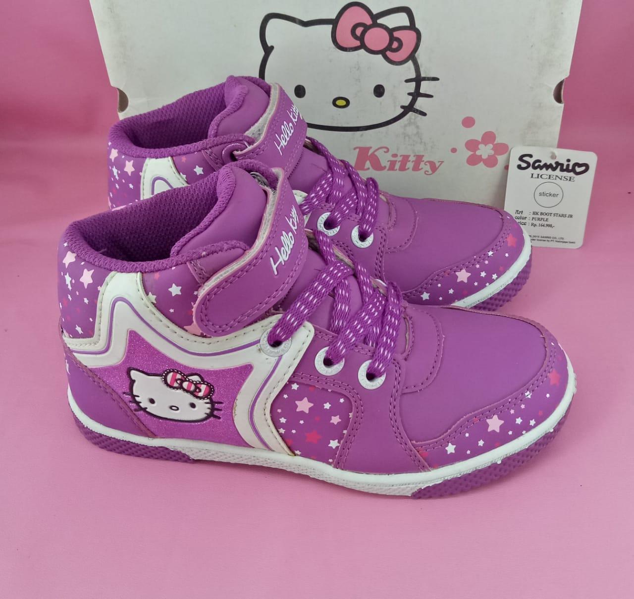 HARGA-PROMO-Sepatu karakter hellokity anak Ando hk boots star ungu 32-35 6f1a8dbef5