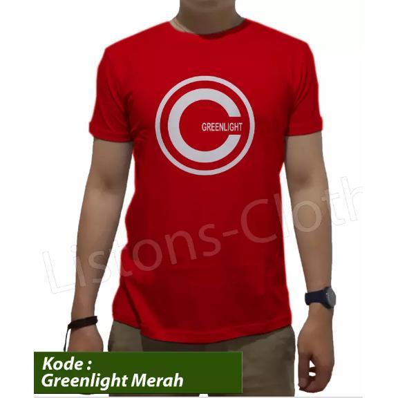 Kaos Greenlight Tshirt Distro Baju Branded Pria