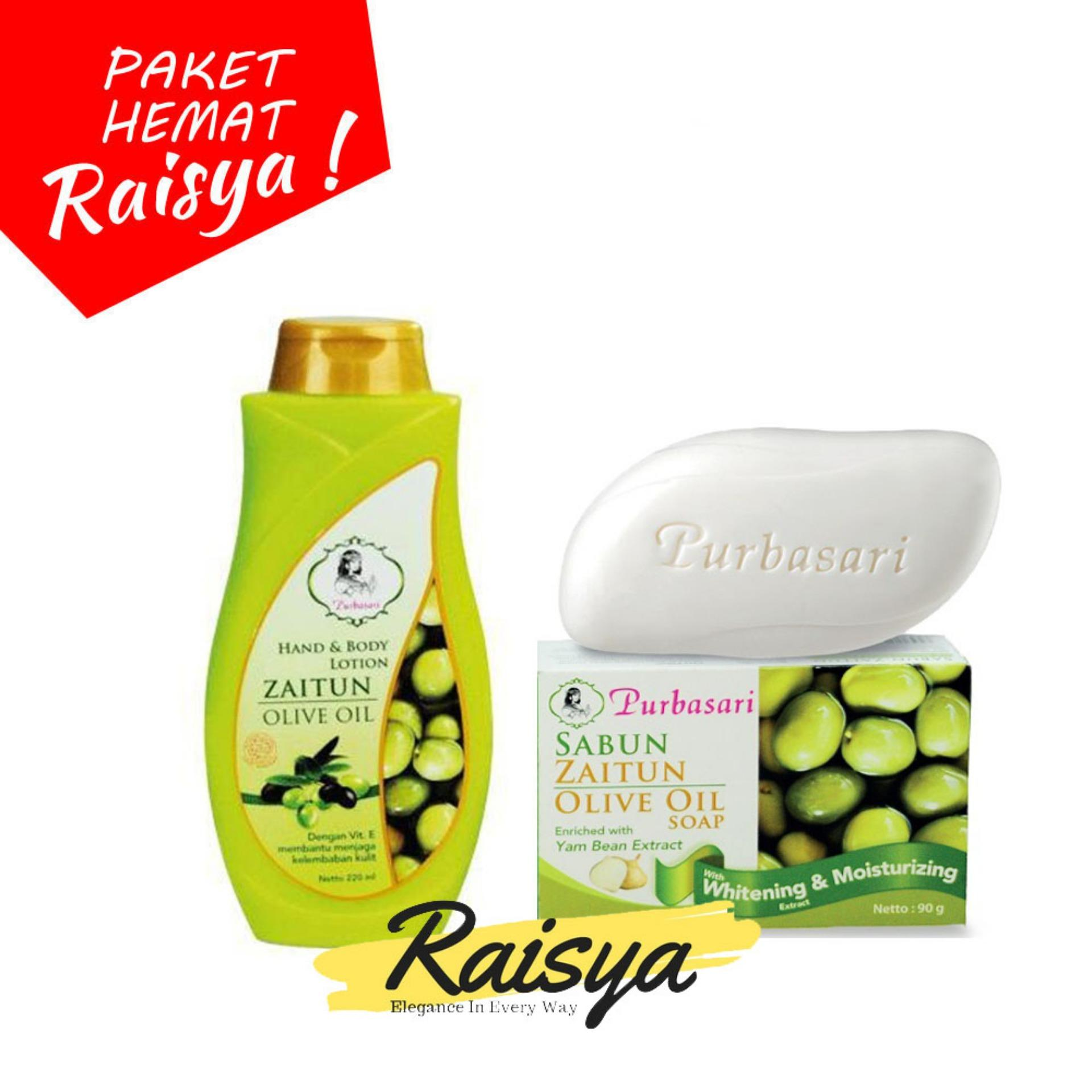 Purbasari Hand and Body Lotion + Sabun - Zaitun Olive Oil