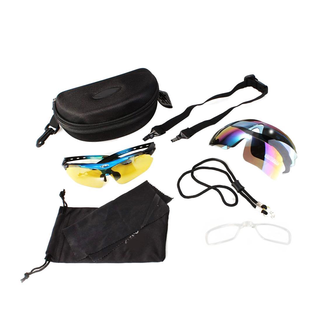 Sepeda kacamata terpolarisasi kacamata olahraga sinar UV + 5 lensa sepeda MTB