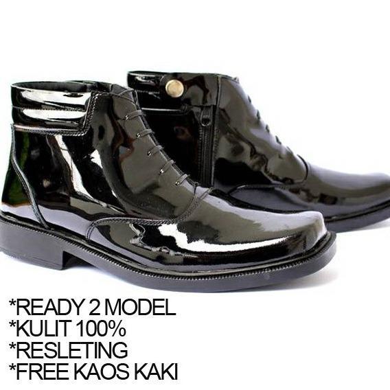 Sepatu Kulit Kickers Pantofel Risleting PDH