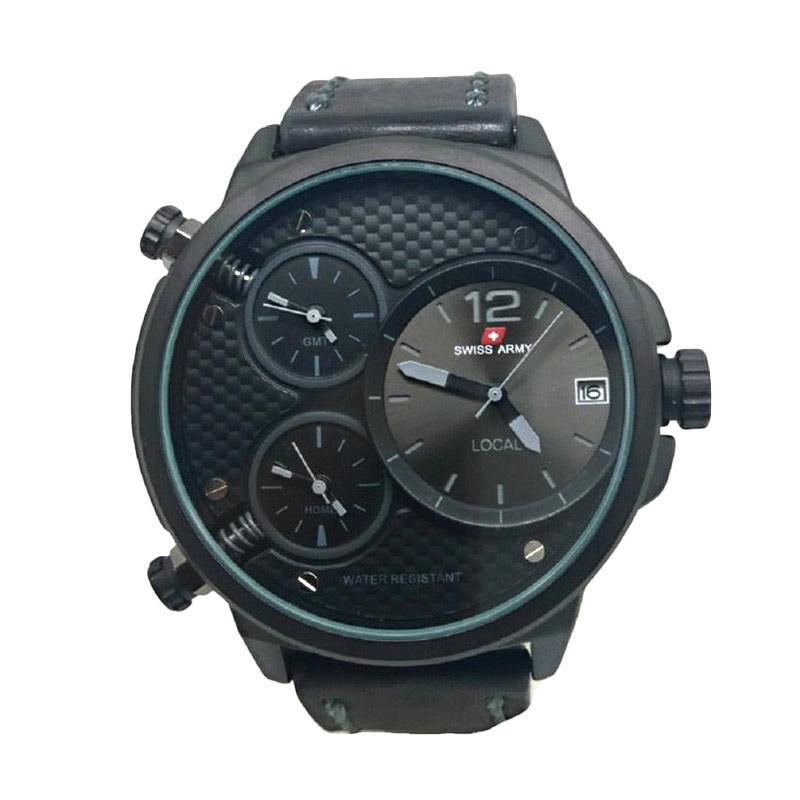 ... Swiss Army Infantry With Triple Time - Jam Tangan Kasual Pria Full Sett Free 2 Strap