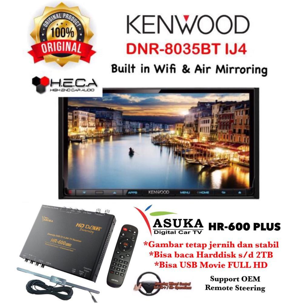 PAKET PROMO Kenwood DNR-8035BTIJ4 Head Unit DNR 8035BT IJ4 Double Din Tape Mobil Audio & ASUKA HR-600 TV Tuner Digital