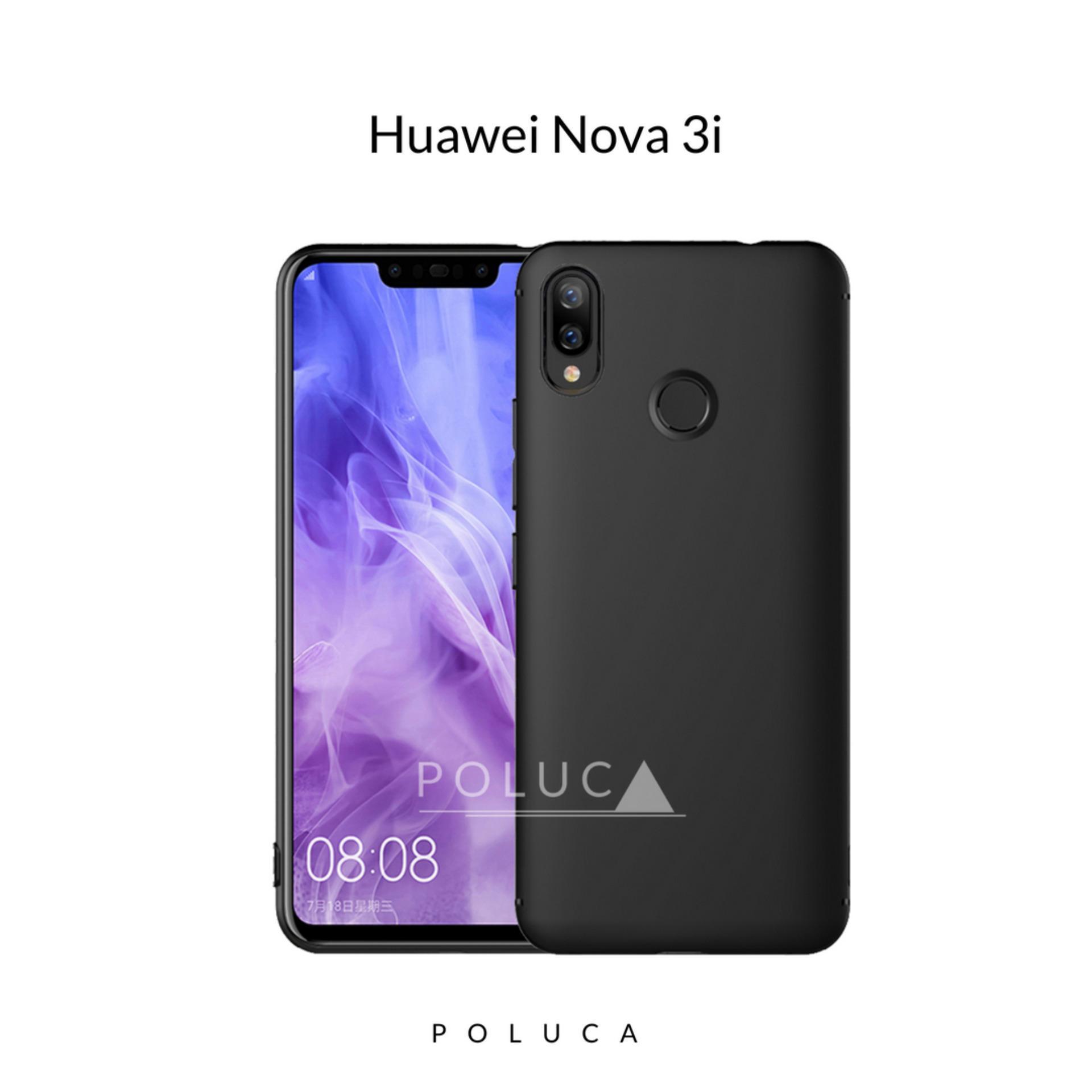 Poluca Case Huawei Nova 3i Slim Black Matte Babyskin Softcase Ultra Thin Jelly Silikon - Black