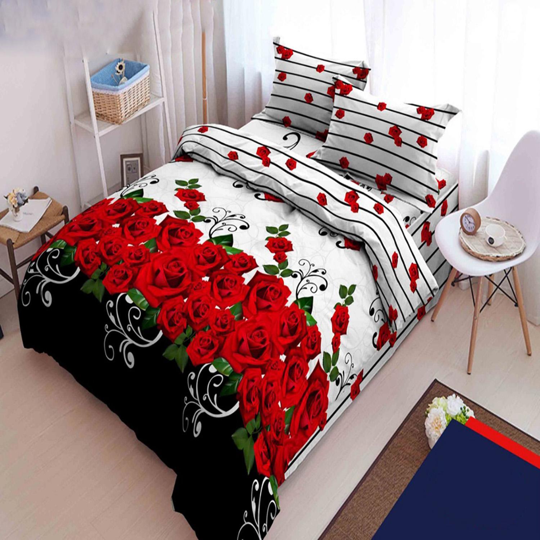 Kintakun Dluxe Sprei Rumbai King Motif Roseline 180x200 cm