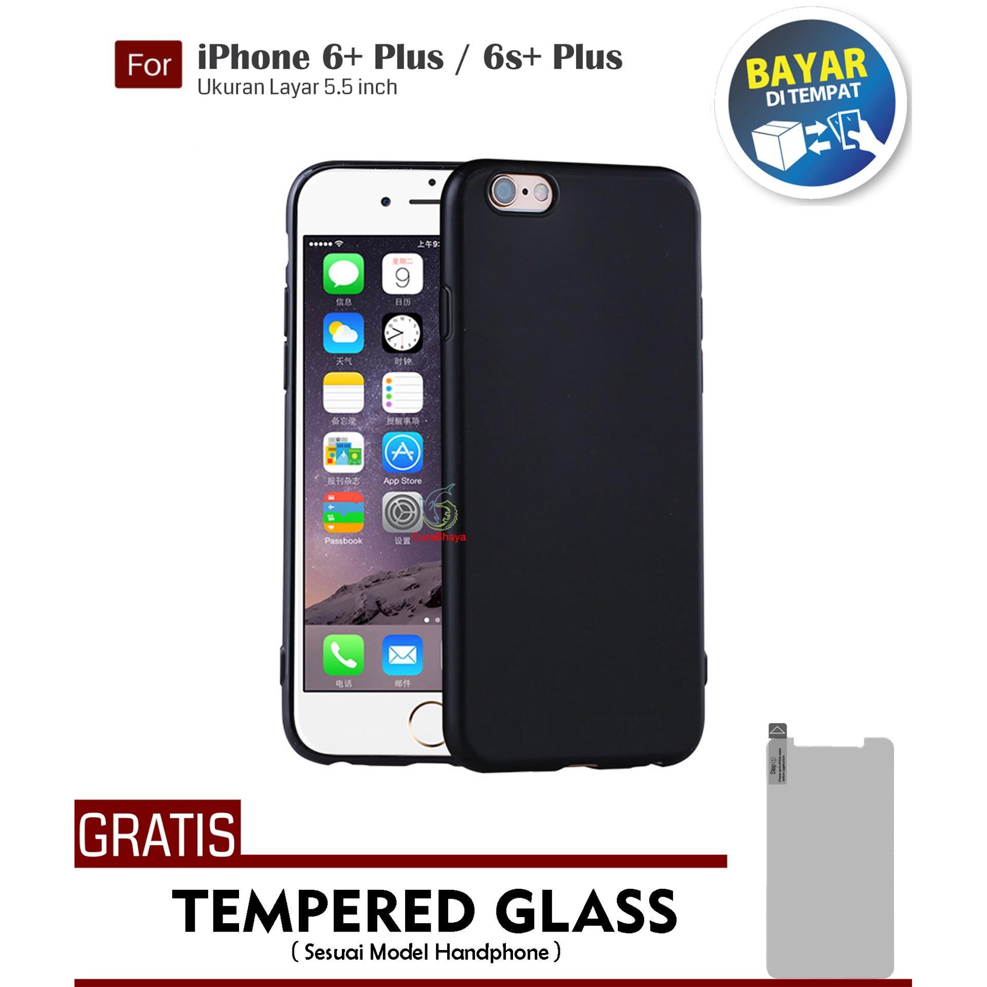 MidNight iPhone 6+ / 6S+ Plus | Slim Case Black Matte Softcase Premium Baby Skin