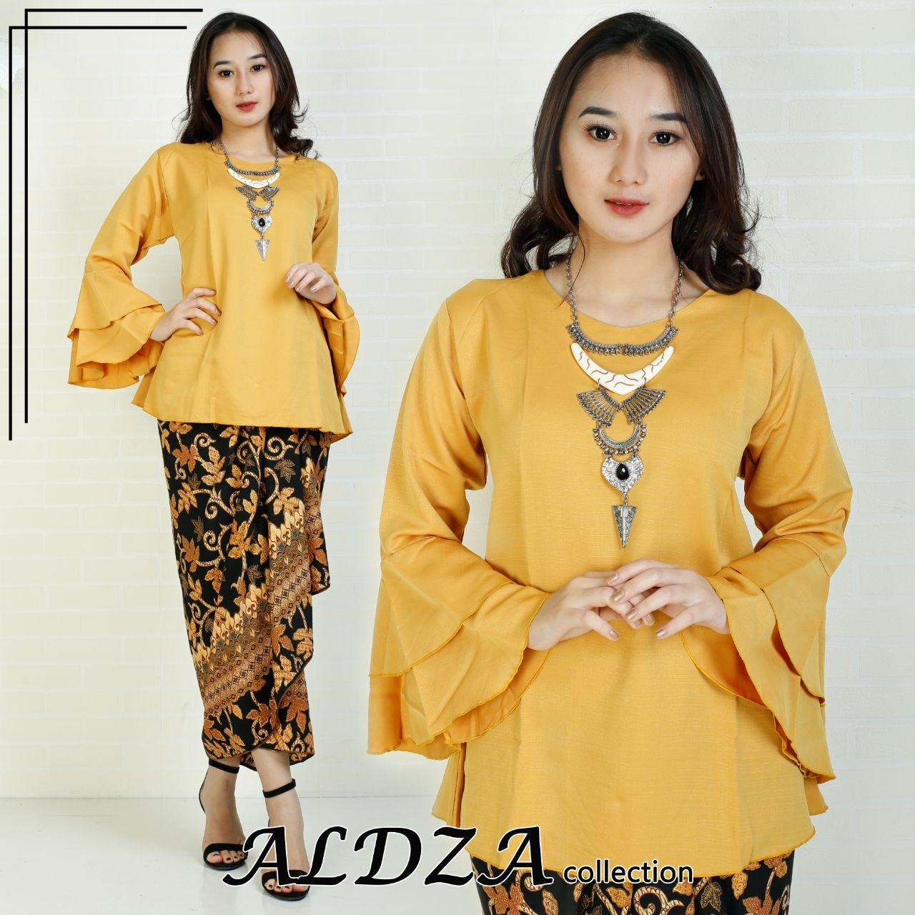 Glow fashion Stelan batik atasan blus kemeja abaya kebaya kutubaru dan rok lilit panjang wanita jumbo
