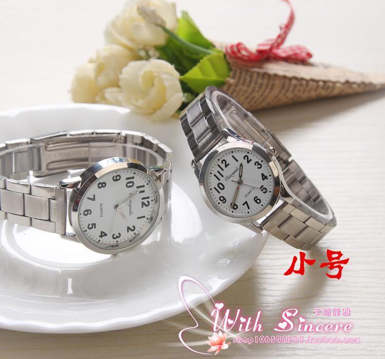 Besar angka meja tua Jam tangan Pasangan Pria Jam tangan pria orang usia stengah Baya dan usia tua Jam Tangan jam tangan wanita Jam tangan siswa Tali Baja jam tangan QUARTZ orang tua - 4