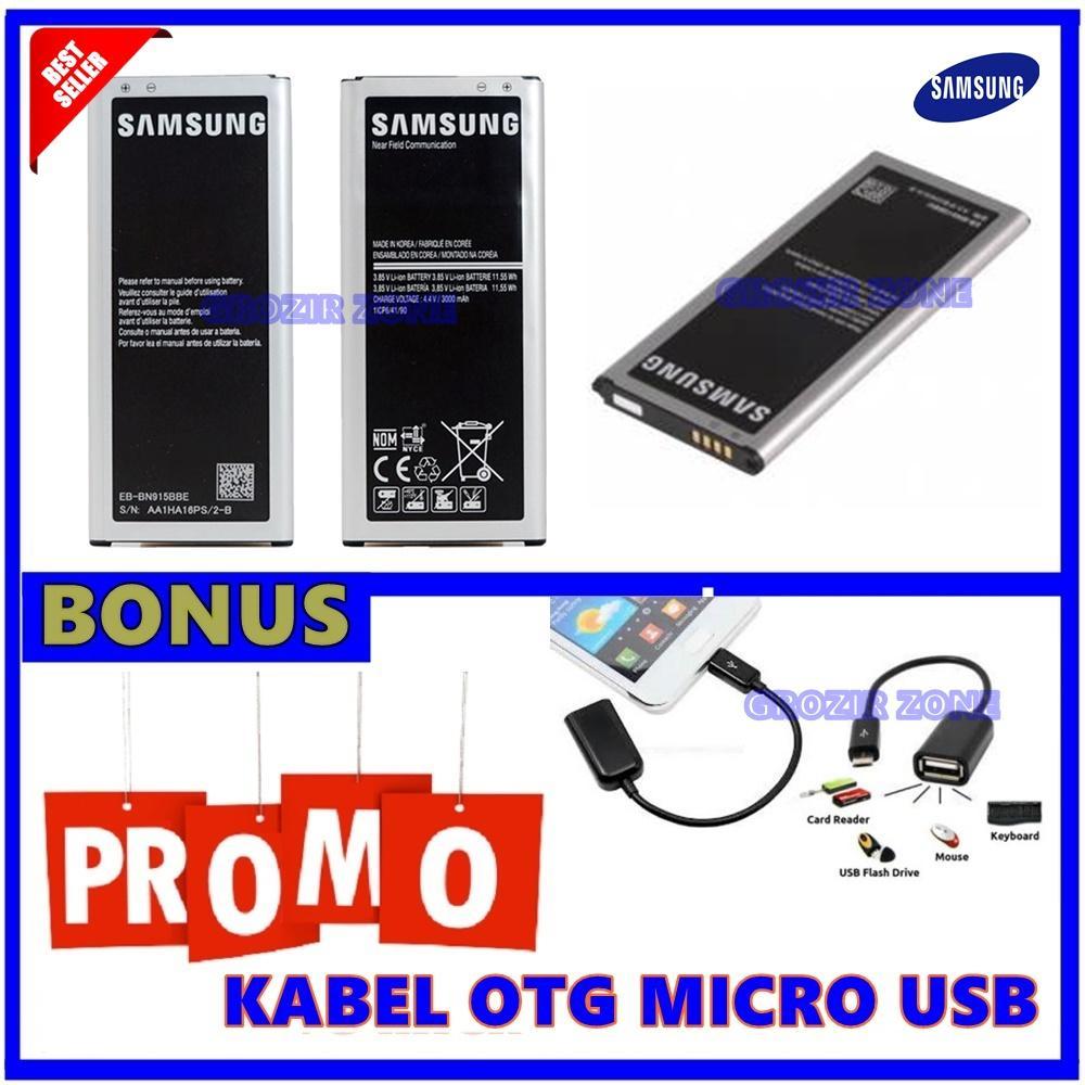 Samsung Baterai / Battery Galaxy Note Edge / N915 Original - Kapasitas 3000mAh + Gratis Kabel