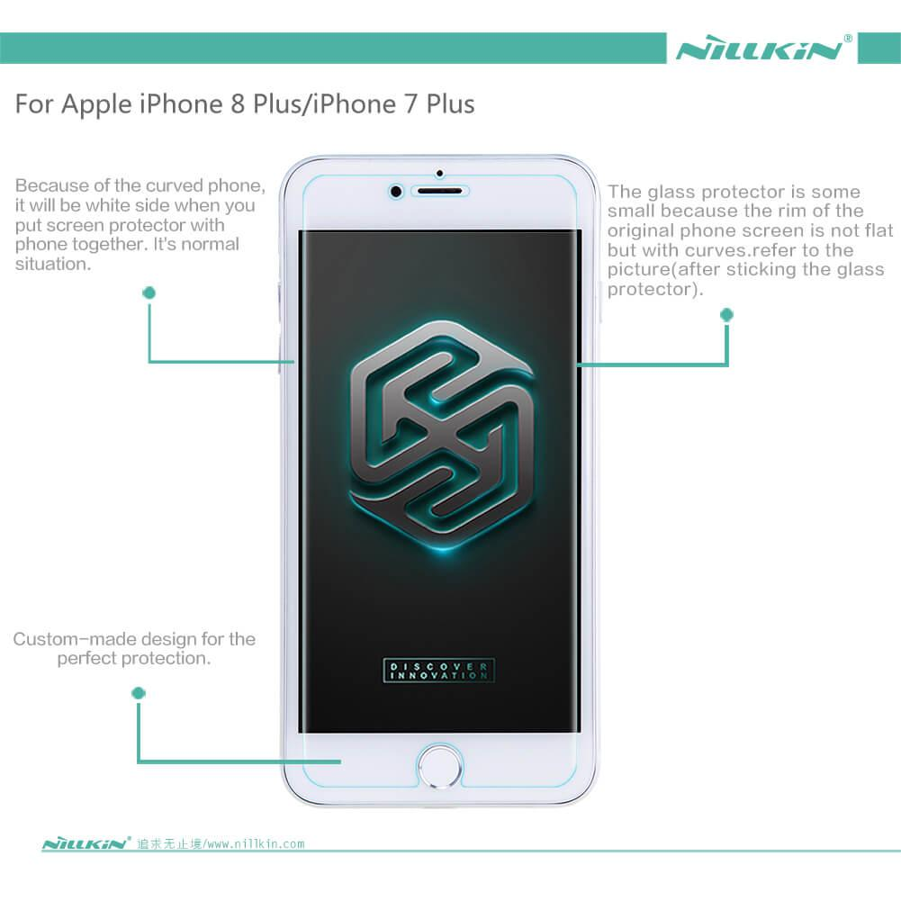 Tyrex 3d Full Cover Tempered Glass For Iphone 7 Plus White Daftar Anti Glare Screen Protector 55 Inch Hitam Nillkin H 8
