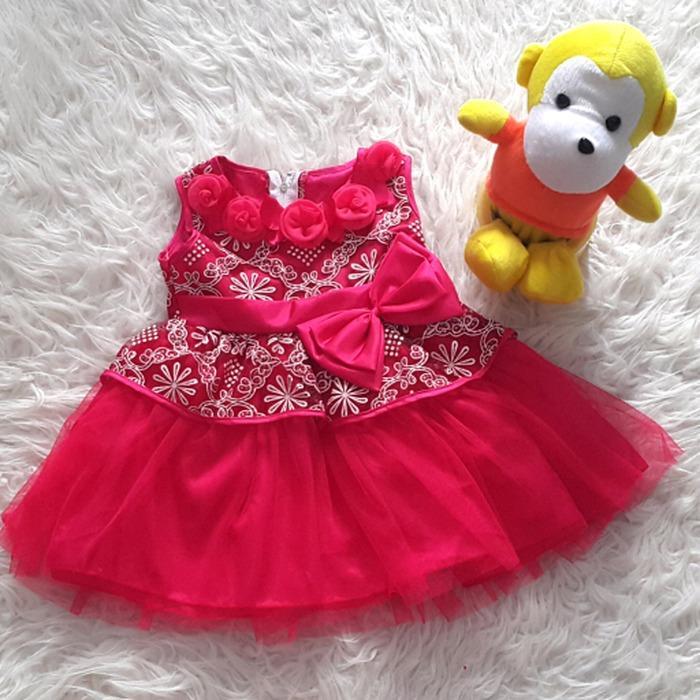 ... Little Baju Dress Gaun Pesta Anak Bayi Perempuan Bunga Glitter Peplum / baju anak perempuan termurah ...
