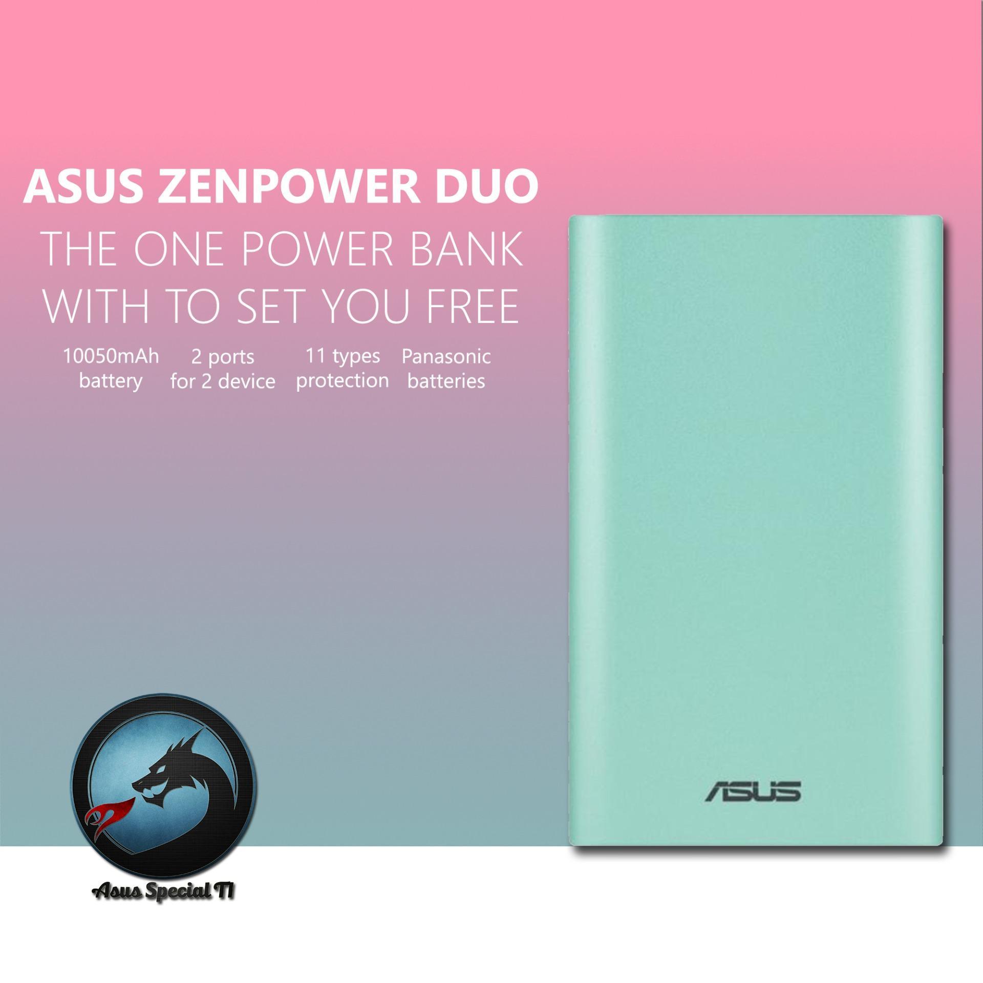 Cara Beli Asus Zenpower Duo 10050Mah Dual Port With Led Flash Garansi Resmi