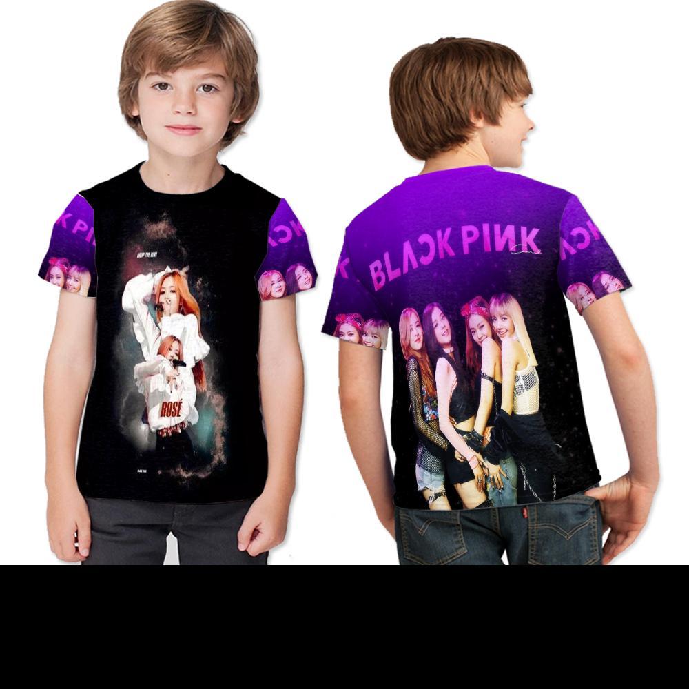 Kaos Anak Fulprint Black Pink Kpop