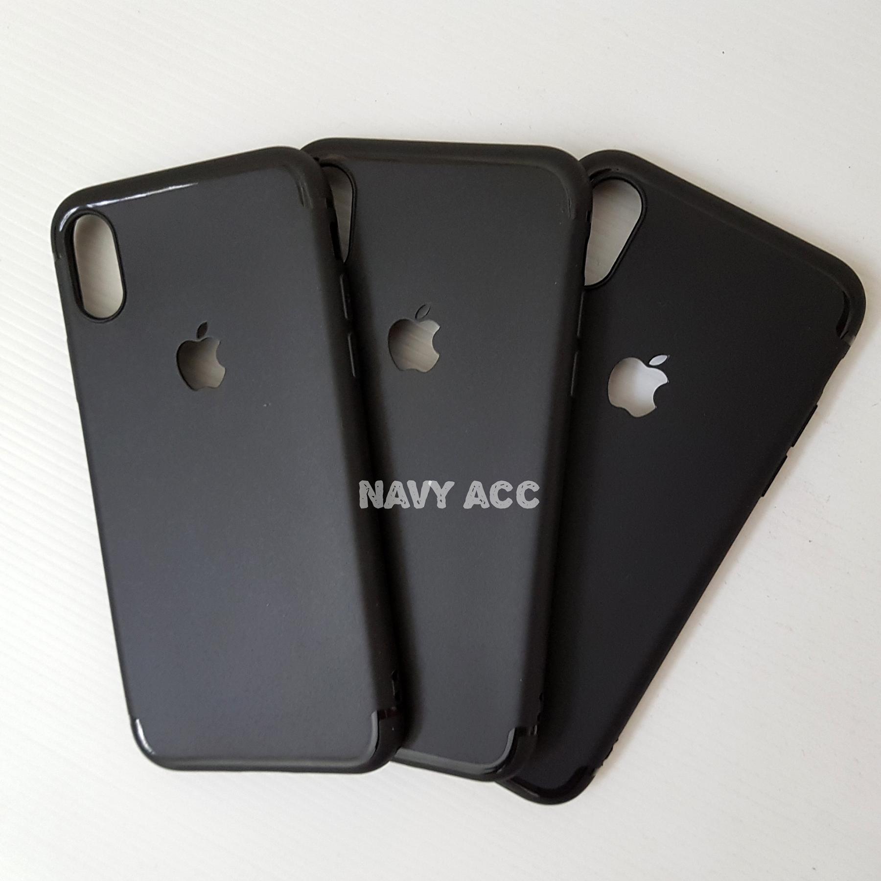 Detail Gambar Softcase Iphone X - Silicon Thin Black Matte Iphone x Logo Apple Terbaru