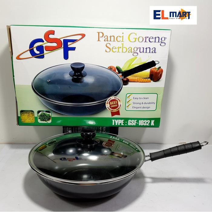 elmart GSF panci goreng serbaguna GSF 1032K/ wajan 32cm/wajan teflon