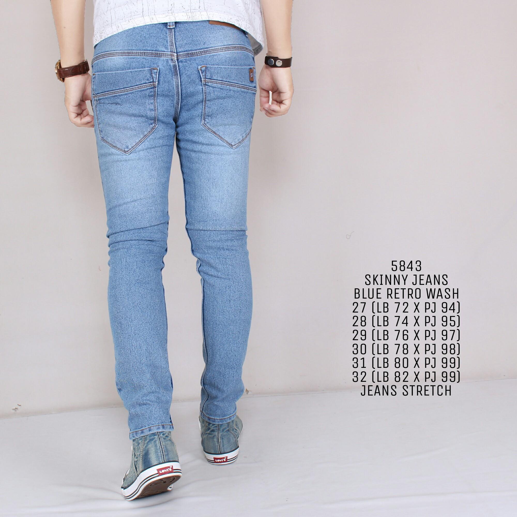An Celana Jeans Panjang Pria Skinny Hight Quality Blue Daftar Lois Original Sskt081 Navy 33 Zoeystore 5843 Celena Cowok Washing Cut Rips
