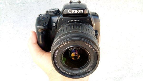 canon 400d plus lensa bekas murah obral
