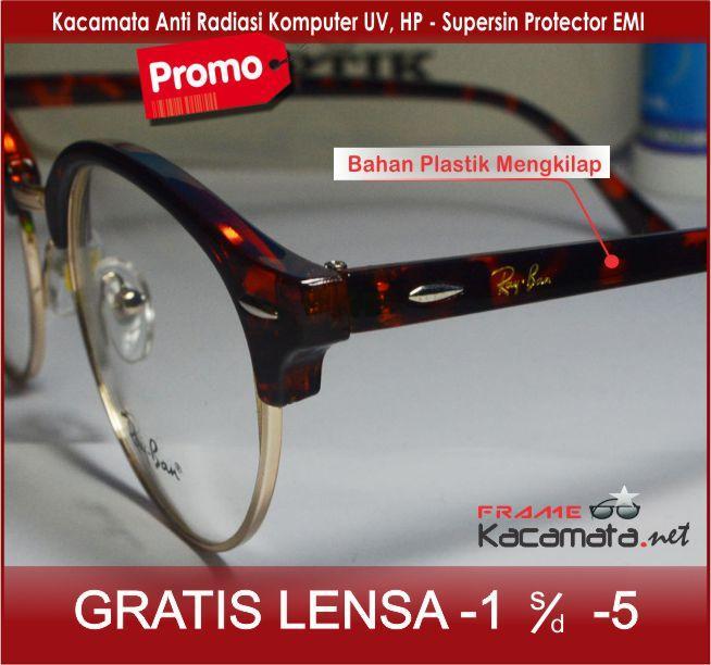 Frame Kacamata Bulat Lensa Anti Radiasi Free Lensa Minus Plus ... 63c33555e1