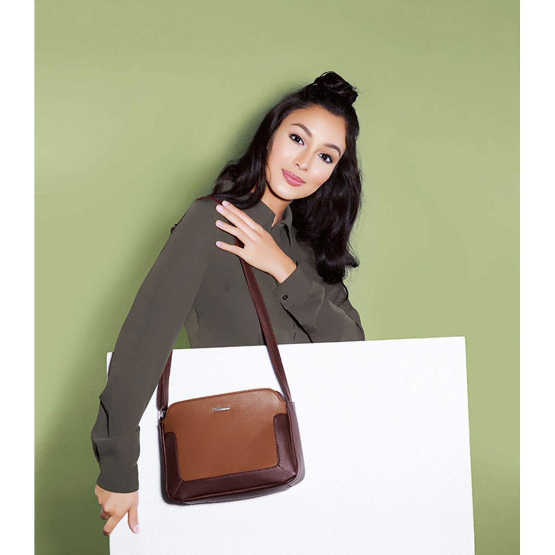 Detail Gambar Sophie Paris Tas Selempang Wanita Import Branded Lamotte Bag T4352C3 Cokelat Terbaru