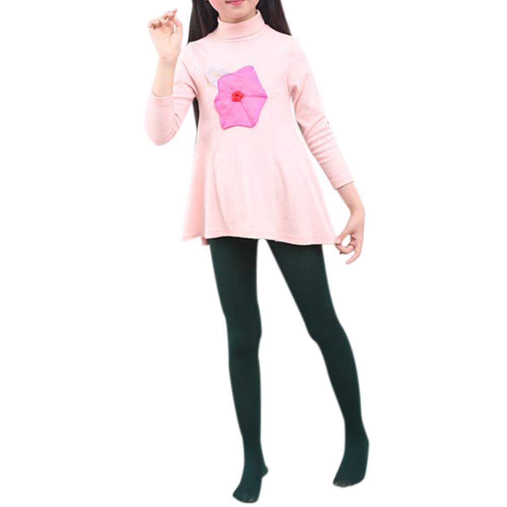 Gadis Pantyhose Kaki Warna Solid All-Match Elastisitas Tinggi Kaus Kaki Stoking Anti-Hook