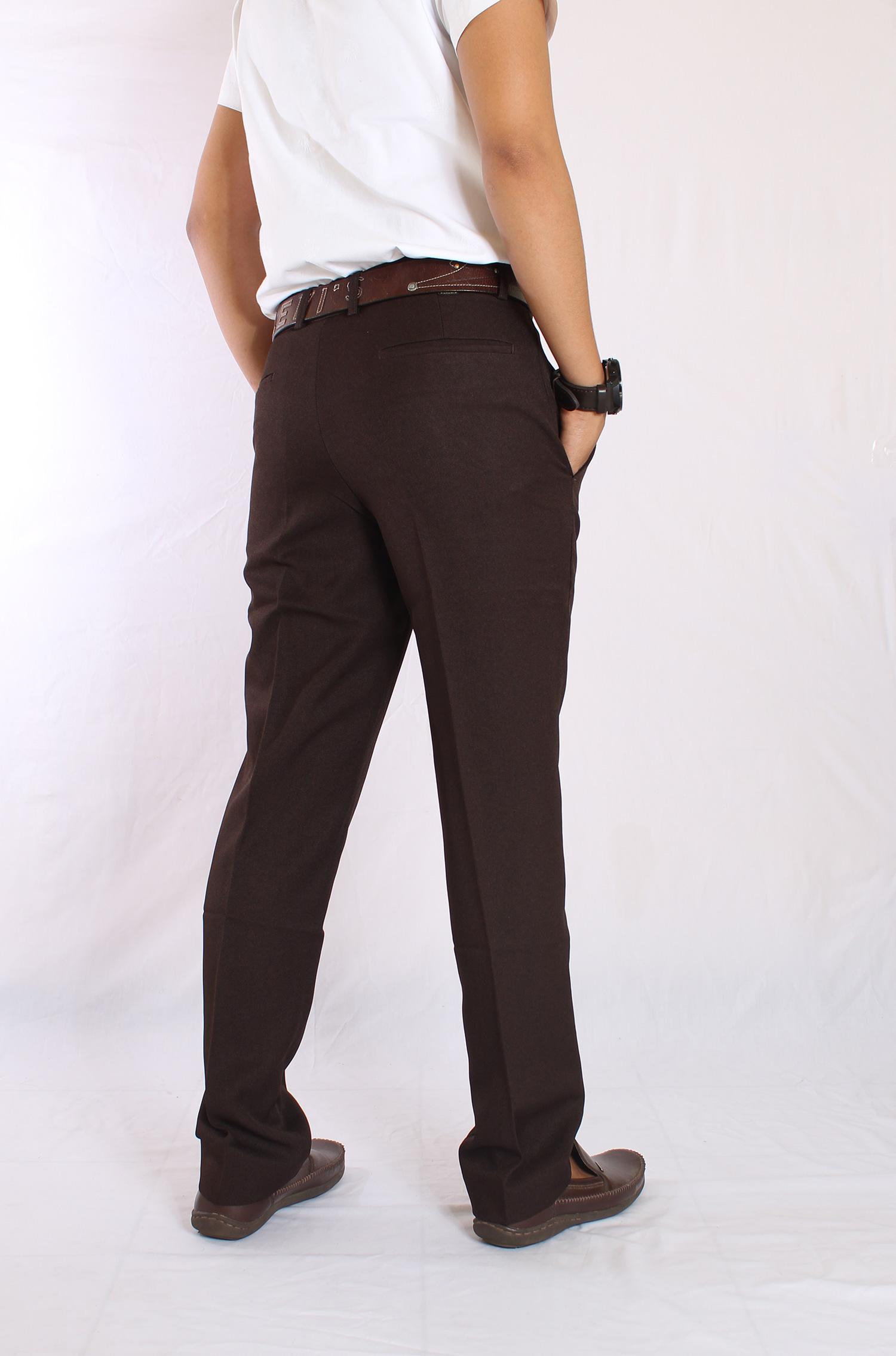it celana kantor pria cokelat celana kantor slim fit pria celana sopan pria premium