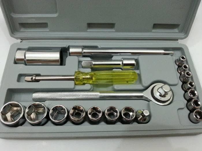(ED012) Obeng Kunci Sock Set 21Pcs Socket Wrench Set / Kunci Socket - 2 ...