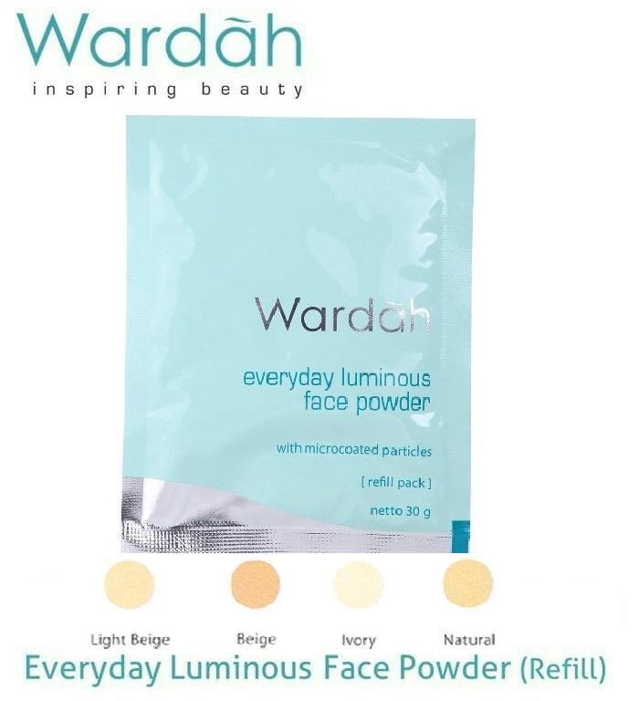 Wardah Everyday Luminous REFILL FACE POWDER 01 - LIGHT BEIGE