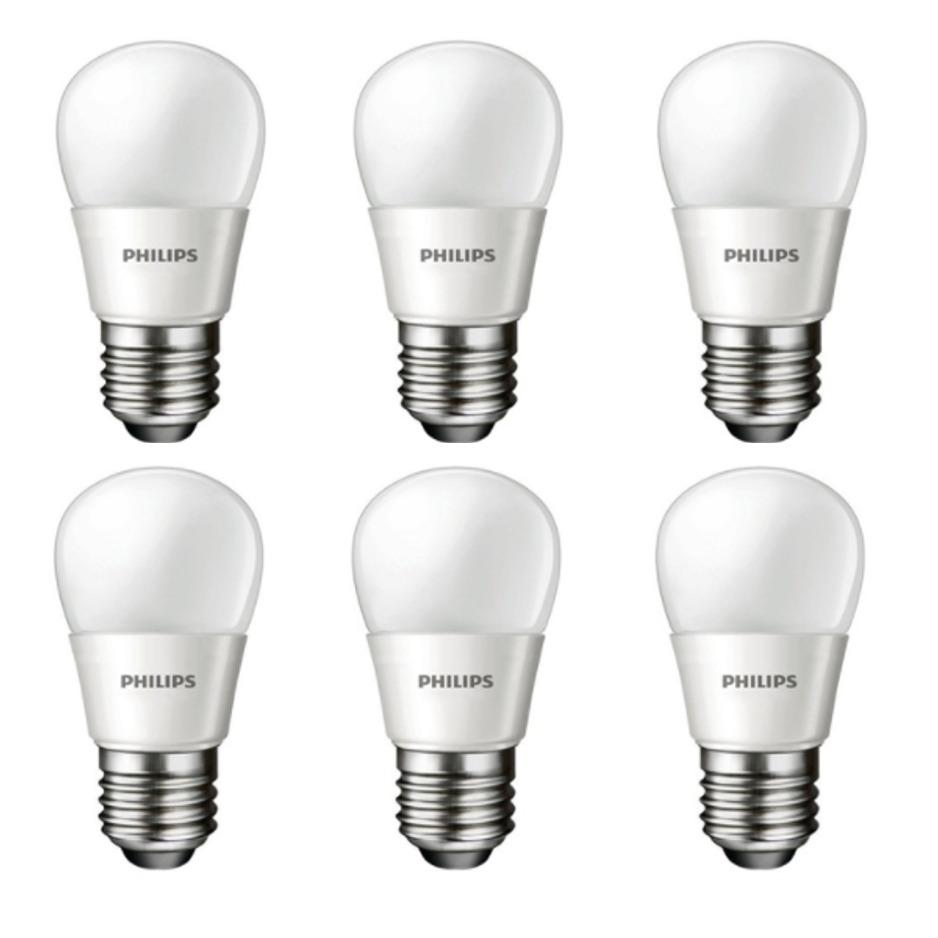 6 Pcs Lampu Bohlam Bulb LED Philips 3.5W -Warm White Kuning - 3.5 Watt