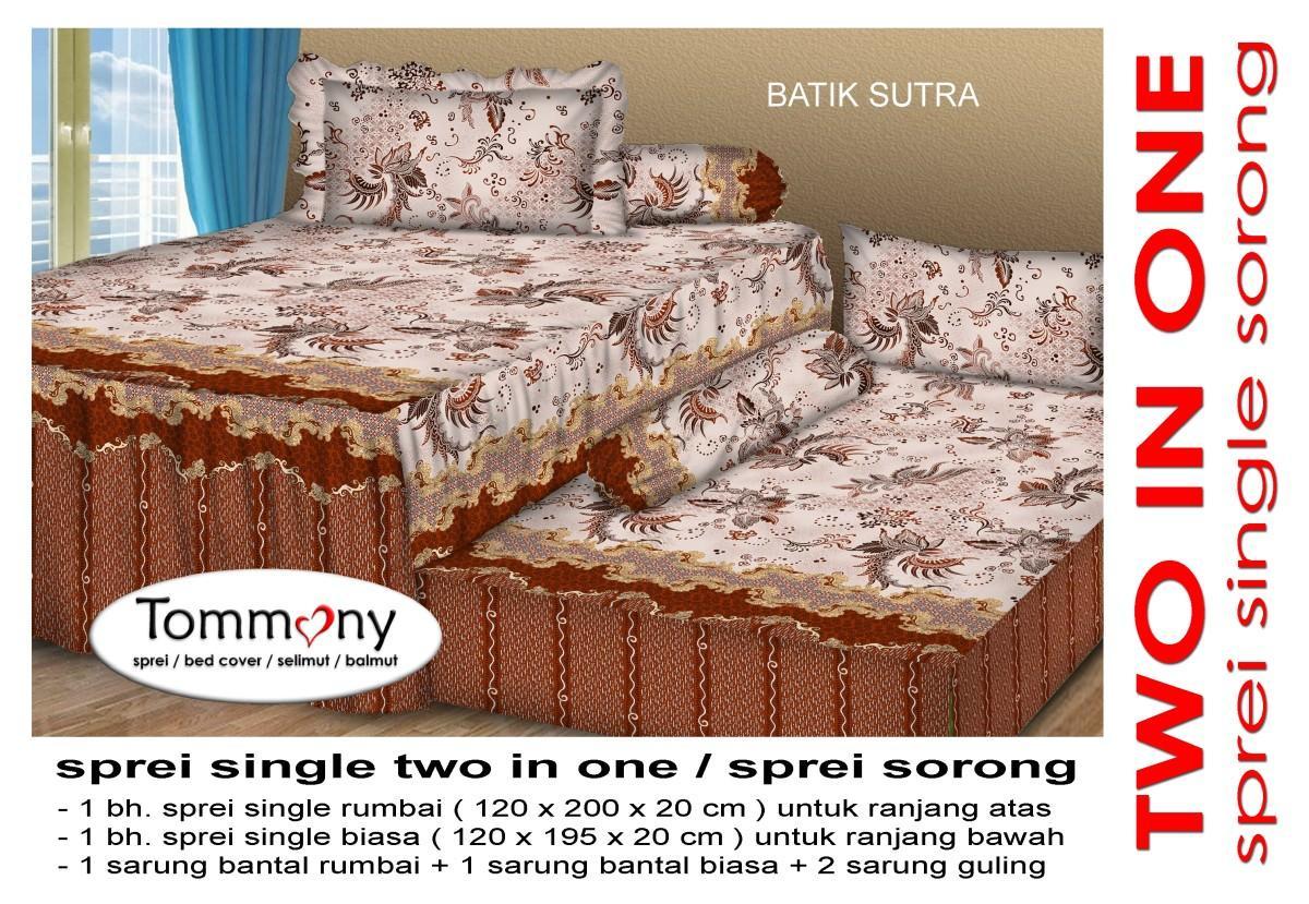Fitur Tommony Sprei Sorong 2 In 1 Batik Sutra Dan Harga Terbaru Seprai Detail Gambar