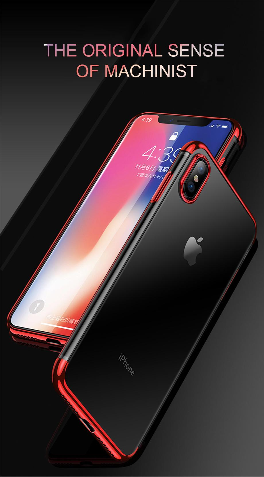 Fitur Case Iphone X Electroplating List Chrome Luxury Soft Back Motomo Vivo Y21 Hardcase Color Premium 4