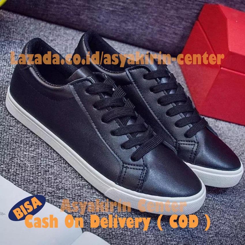 Spek Sepatu Sneakers Wanita Cewek Warna Hitam Lokal