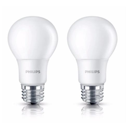 2 Buah Lampu Bohlam Bulb LED Philips 5W - Cool Day Light Putih - 5 Watt