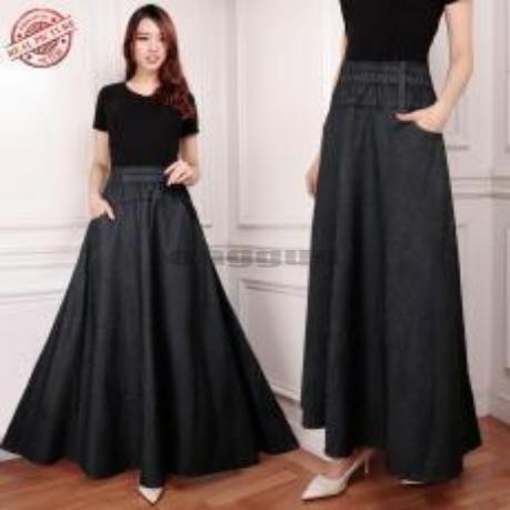 Rok Payung Bintari Maxi Jeans Wanita