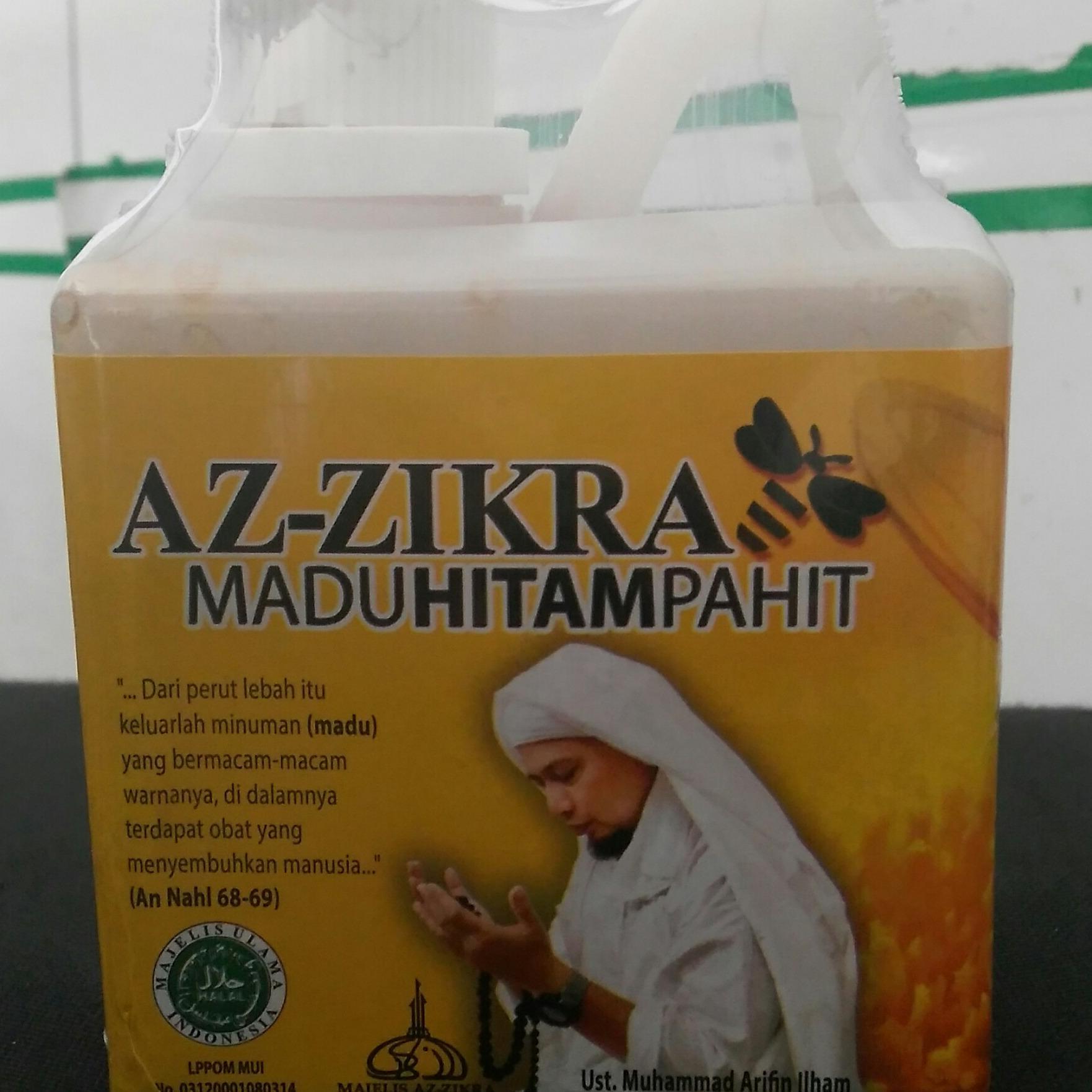 Madu Az - Zikra Hitam Pahit (500gr) Madu Kesehatan, Madu Pengobatan, Madu Dzikir Ribuan Umat