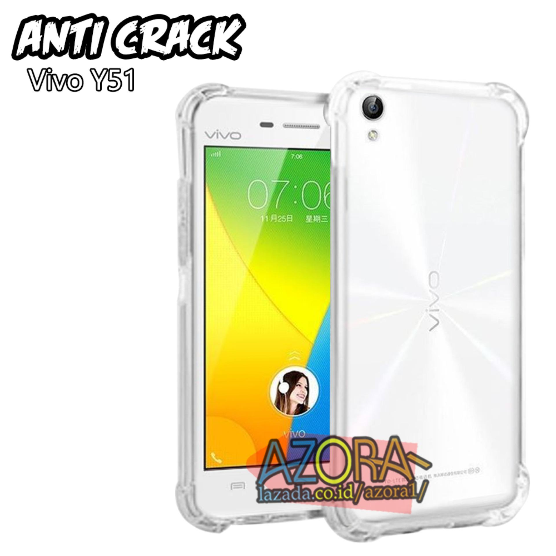 Case Anti Crack Vivo Y51 Ultra Thin Anti Shock Jelly Silikon Shockproof Softcase Azora - Bening