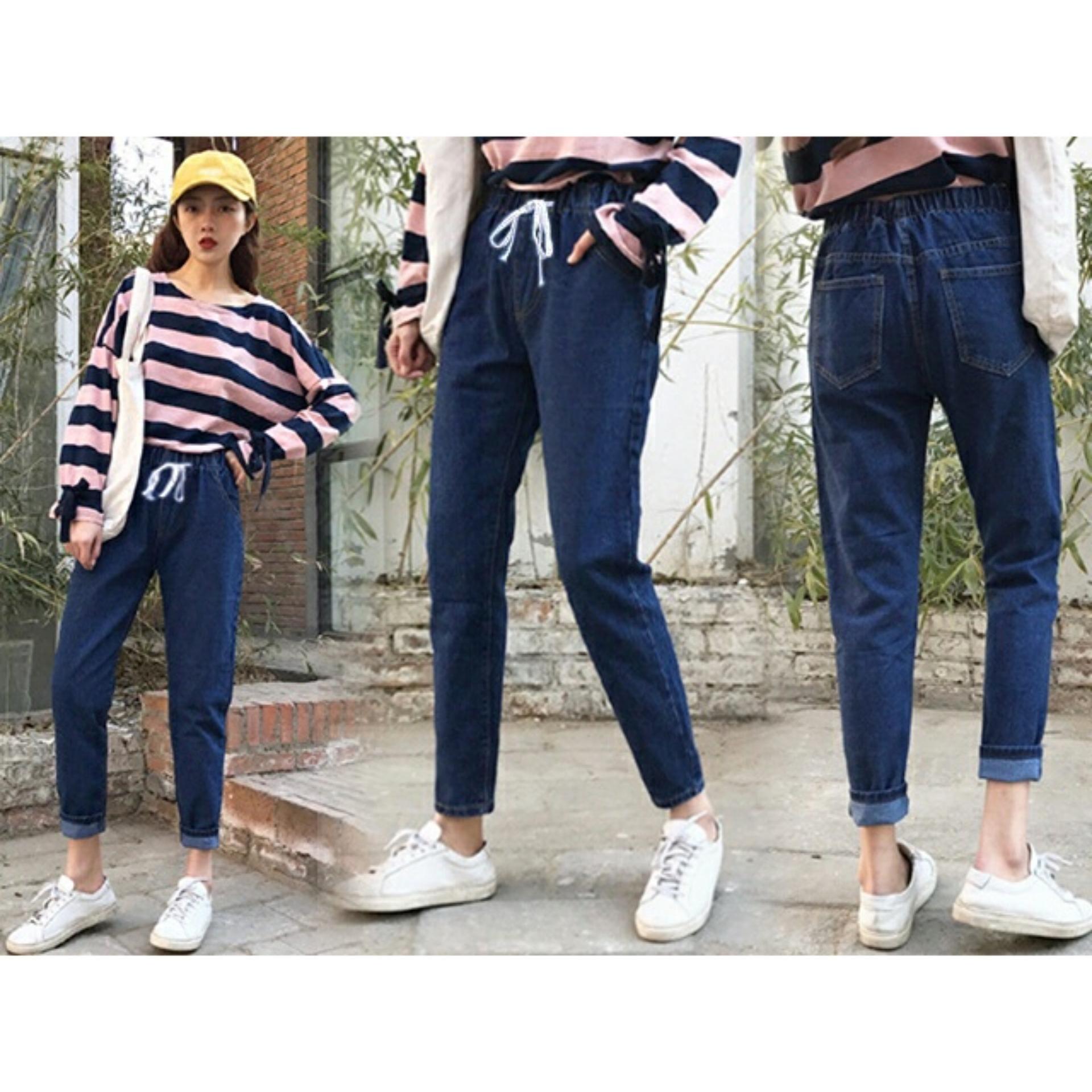 9 Shop Celana Jeans Denim Boyfriend Wanita LIDIA (Kualitas Premium ) / Celana Panjang /
