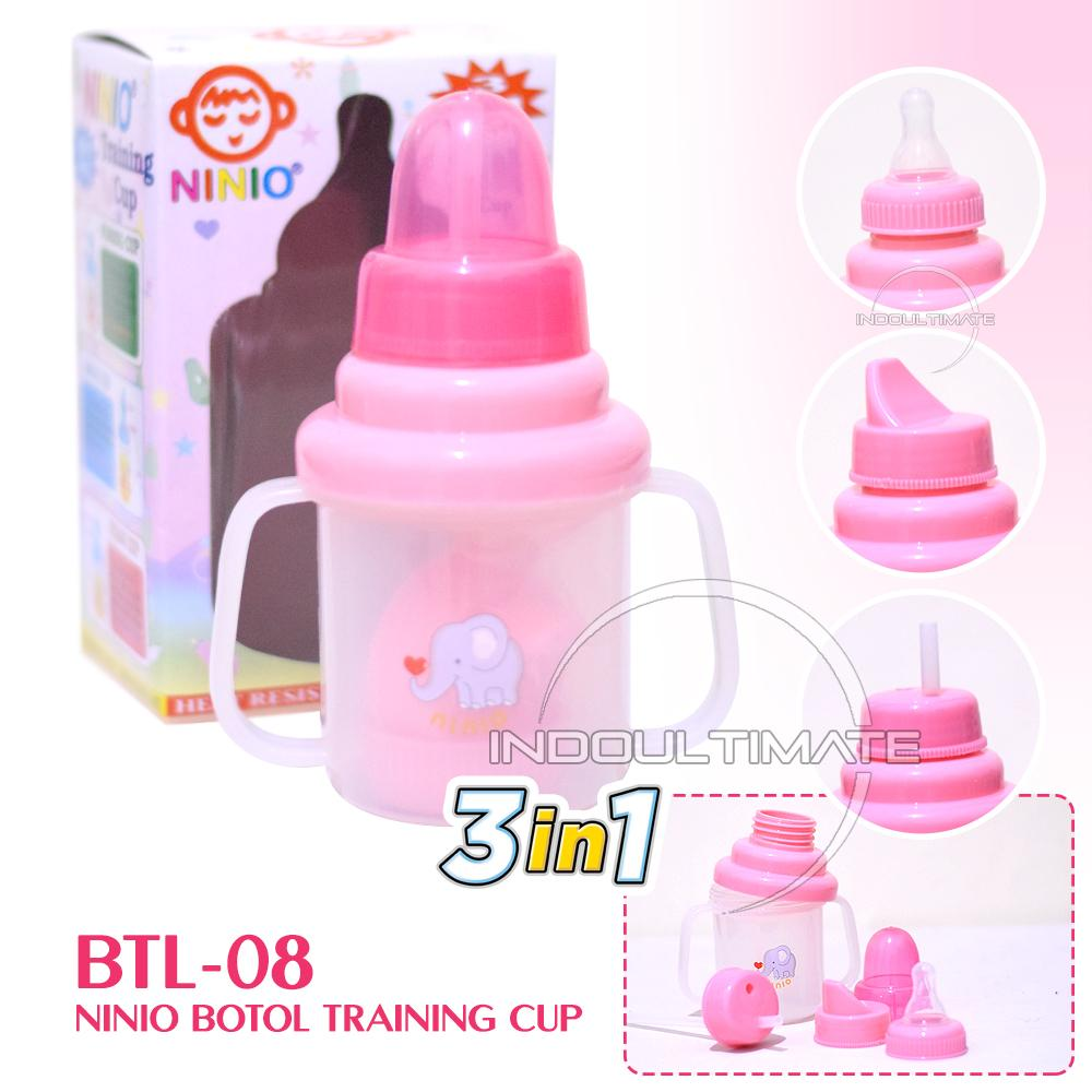 Ninio Training Cup 3in1 / BY BTL-08 / Botol Minum Bayi / Dot Bayi