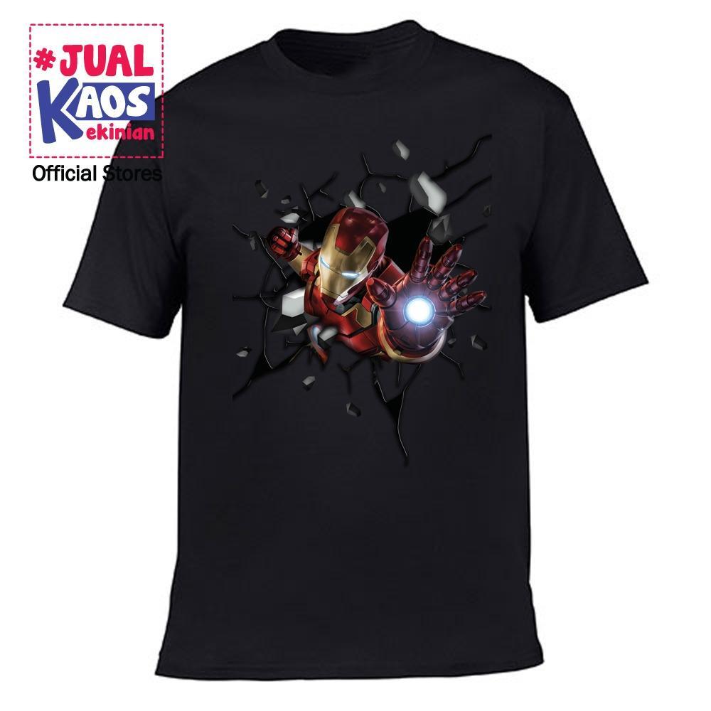 Kaos JW Jual Kaos Jualkaos murah / Terlaris / Premium / tshirt / katun import / kekinian / terkini / keluarga / pasangan / pria / wanita / couple / family / anak / surabaya / distro / Avanger / Super hero / 3D / IRON MAN