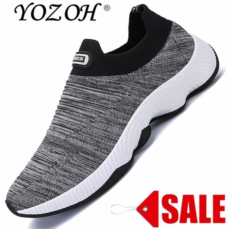 Beli Yozoh Menjalankan Sepatu For Pria Mesh Bernapas Olahraga Sepatu Pria Tinggi Meningkatkan Sneakers Pria English Cahaya Sepatu Olahraga Intl Online Murah