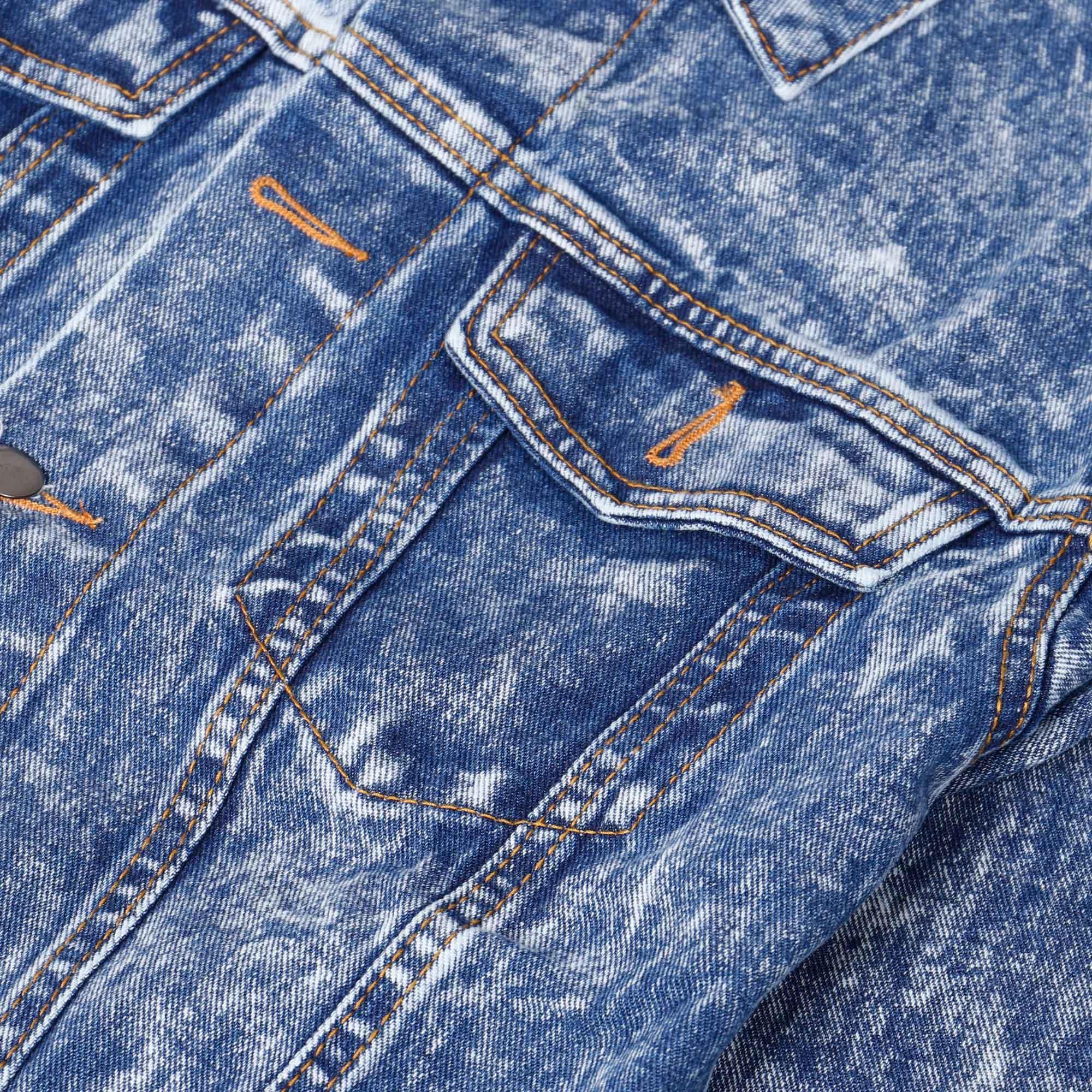 Fitur Broodis Jaket Blue Denim Trucker Wash Best Seller Dan Harga Bomber Casual  Official Store 3
