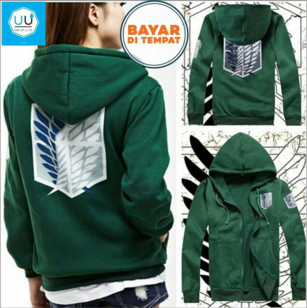 Beli Jaket Hoodie Zipper Anime Attack On Titan Jaket Aot Best Seller Green Online Jawa Barat