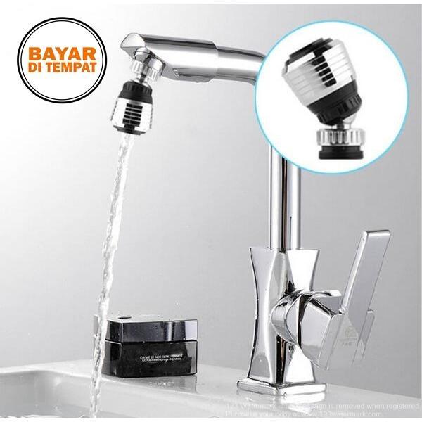 Rimas Filter Keran Air Aerator 360 Rotate - Silver / Perak Saringan Penyaring Kran Wastafel Air Anti Kotor Kuman Higienis Berkualitas