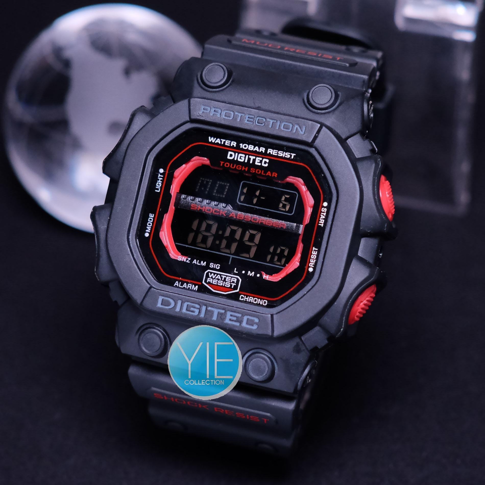 Digitec Jam Tangan Sport Army Pria DG 2012 T Black Anti Air Original - Hitam List