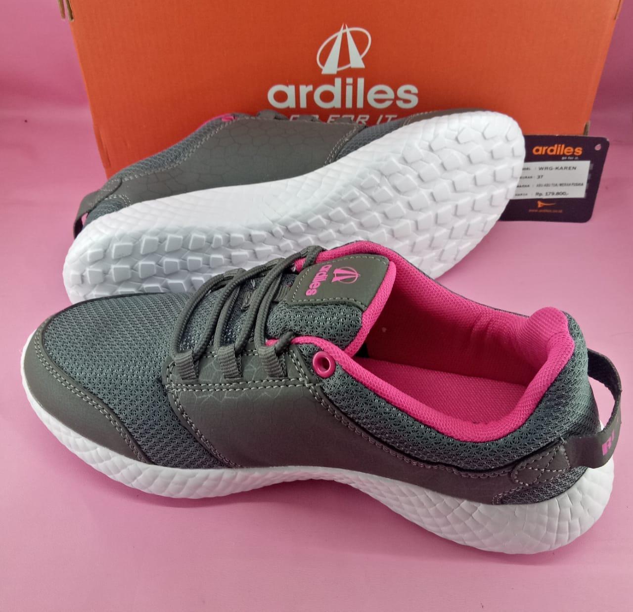 Fitur Running Shoes Ardiles Karen Abutua Fushia 37 40 Dan Harga Girls Lancia Sepatu Sekolah Hitam Abu 38 Detail Gambar Terbaru
